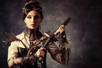 woman gun