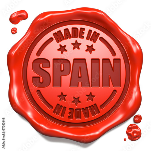 Made in Spain - Stamp on Red Wax Seal.