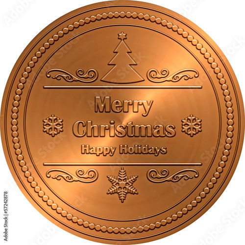 Bronze Emossed Christmas Greeting
