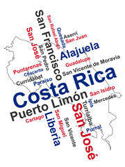 Costa Rica Map and Cities