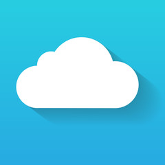 Day cloud isolated on blue