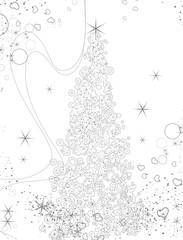 Abstract Christmas theme