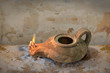 Leinwanddruck Bild - Ancient Oil Lamp