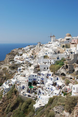 Oia village on Santorini island, Greece
