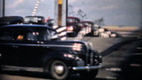 Rush Hour Traffic And Interstate Highway-1940 Vintage 8mm film