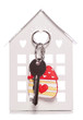 love home keyring and door key