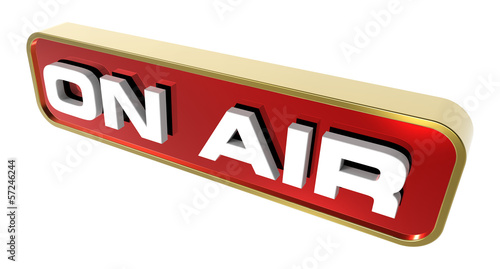 """On Air"" sign. Computer generated 3D photo rendering."