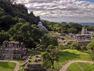 Maya Temple Palenque Chiapas Mexico