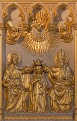 Antwerp - Coronation of Virgin Mary relief  in Jorisker