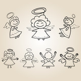hand drawings cartoon angel