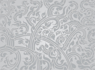 Thai culture art pattern on a gray background