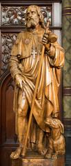 Antwerp - Carved statue of apostle Jacob from Joriskerk