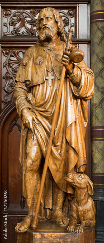Antwerp - Carved statue of apostle Jacob from Joriskerk