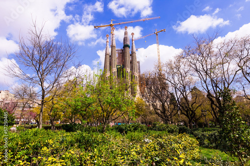 View of Sagrada Familia by architect  Gaudi