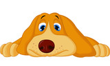 Cute cartoon dog lying down