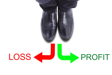 Close up businessman shoe include clipping path