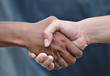 Handshake,gray background