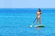 Stand up paddle board woman paddleboarding
