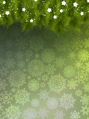 Background with christmas tree. EPS 10