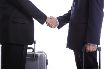 Businessman oversea busineess shake hand
