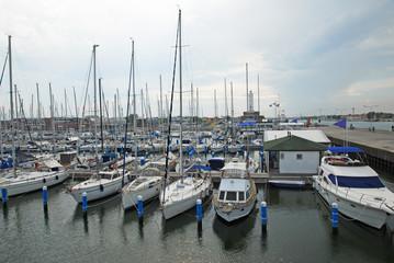 Italy, boats in the Ravenna marina harbor