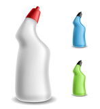Toilet detergent bottle set