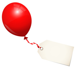 Red Balloon & Label