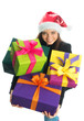 Weihnachtsmädchen mit Geschenken