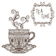 Tea party vintage background