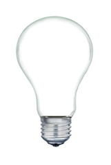 A light bulb isolated on a white background.