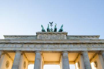 Quadriga at the Brandenburger Tor in Berlin, Germany
