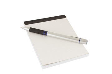 Isolated pen and notebook