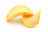 Potato chips close-up.