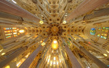 Sagrada Familia cathedral interior, Barcelona Spain