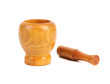 Wooden mortar with pestle