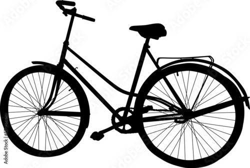 single black bicycle on white