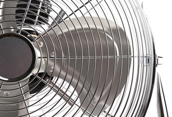 Close up of electric fan.