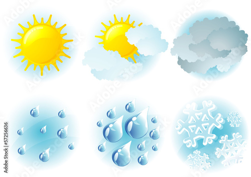 Weather day vector icons.