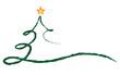 Weihnachtsbaum Kreidezeichnung Vektor grün/gelb