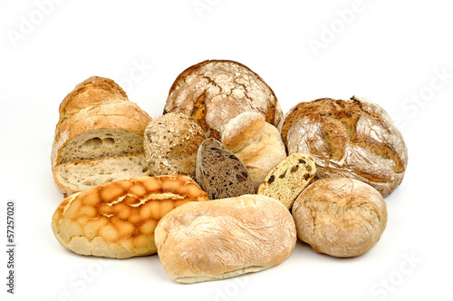 Various breads.