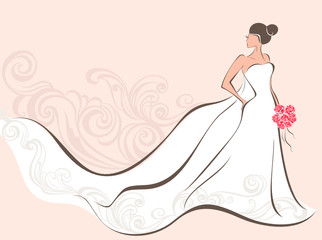Bride in wedding dress