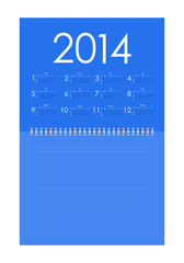Vector calendar for 2014 with special design