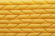 Raw pennoni pasta texture