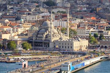 Yeni Mosque and part of Galata Bridge
