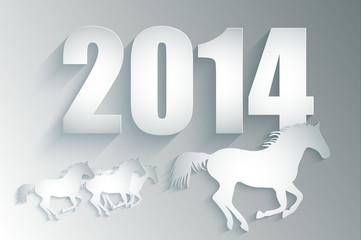 Year of the horse card. 2014