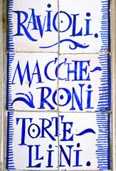 Italian restaurant, tile