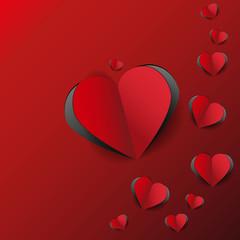 красные сердечки вырезанные из бумаги