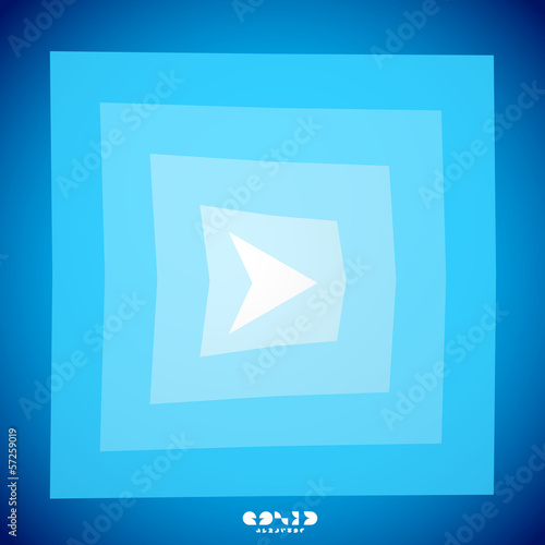 Modern blue arrow creative clean background