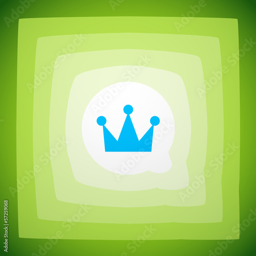 Vector crown creative abstract background
