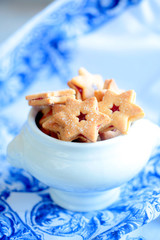 shortbread biscuits in the shape of a star